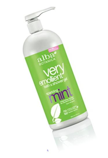 Alba Botanica Very Emollient, Sparkling Mint Bath & Shower Gel, 32 Ounce (Packaging May Vary)