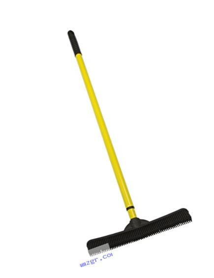 FURemover Broom with Squeegee made from Natural Rubber, Multi-Surface and Pet Hair Removal, Extends from 3 ft. to 6 ft