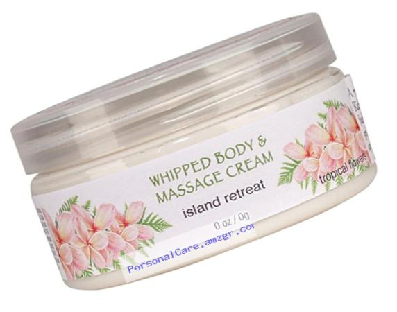 Spa...ah Massage and Whipped Body Cream - Island Retreat (Tropical Flowers) - 8 oz