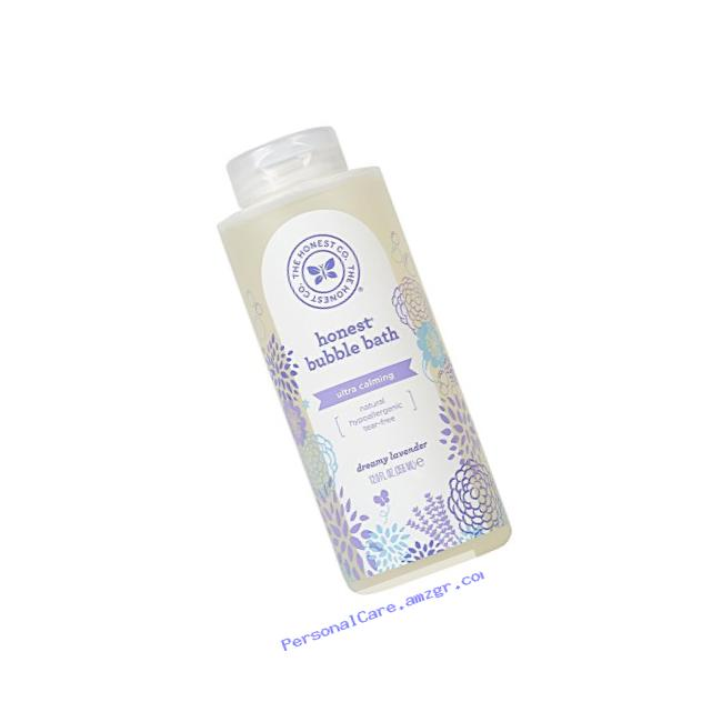 Honest Calming Lavender Hypoallergenic Bubble Bath With Naturally Derived Botanicals, Dreamy Lavender, 12 Fluid Ounce